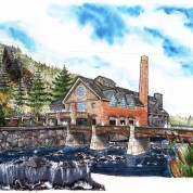 Adaptive reuse of a paper mill into residential and commercial setting, Rock City Falls, NY
